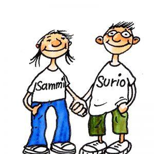Sammi und Surio, die Mascottchen von ABC-Sammelsurium