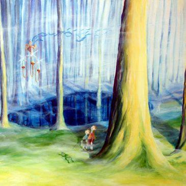 Hänsel und Gretel im lichten Wald