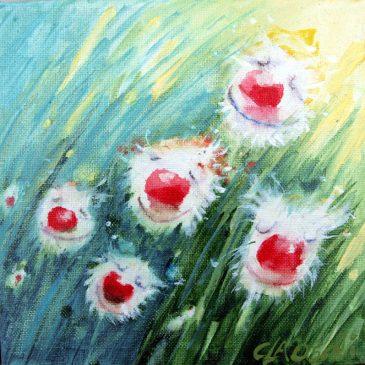 Rote Blumennasen