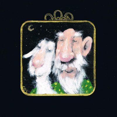 Opa und Schaf